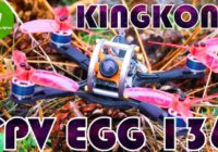 Обзор идеального FPV Квадрокоптера KiNGKONG FPV EGG 136mm! Banggood!