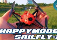 FPV Квадрокоптер Happymodel Sailfly-X 105mm Crazybee F4 PRO 2-3S Toothpick!